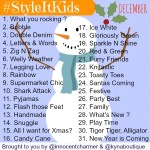 #StyleItKids – December Prompts