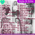 Style It Kids – January 2015!