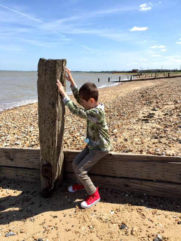 grayson at the beach
