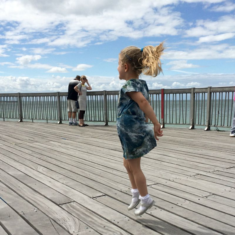 Addison Dancing on the Pier