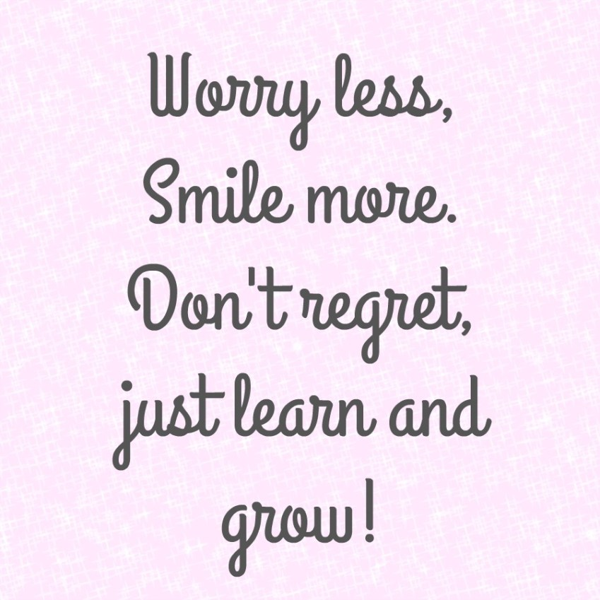 A perfect quote about learning to smile more and live with the choices you make. Innocent Charms Chats