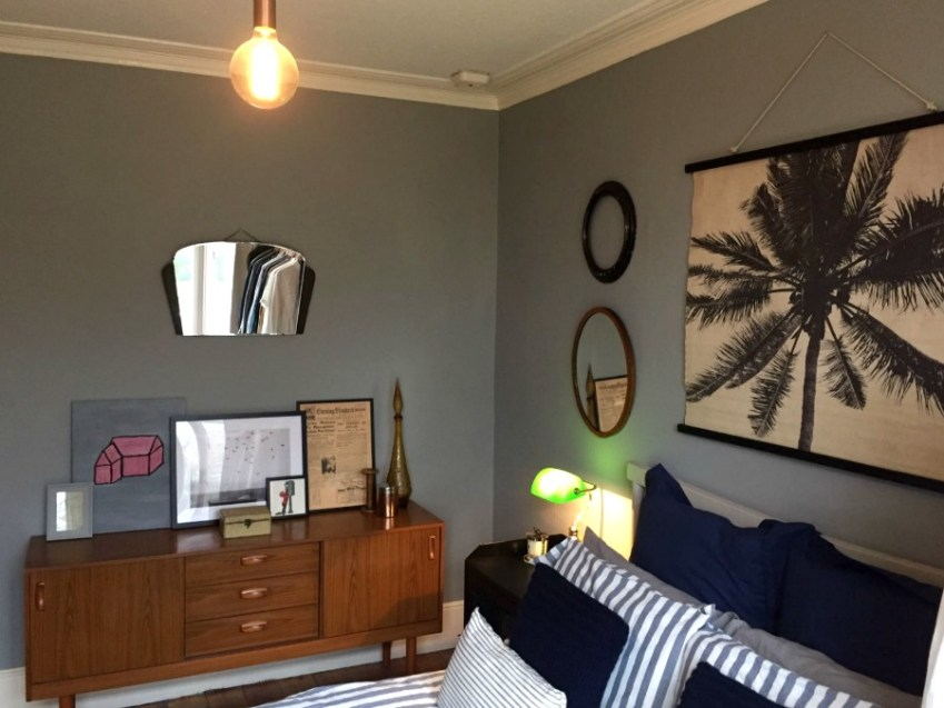 A look round a beautifully decorated London Bedroom with a vintage industrial feel from Innocent Charms Chats