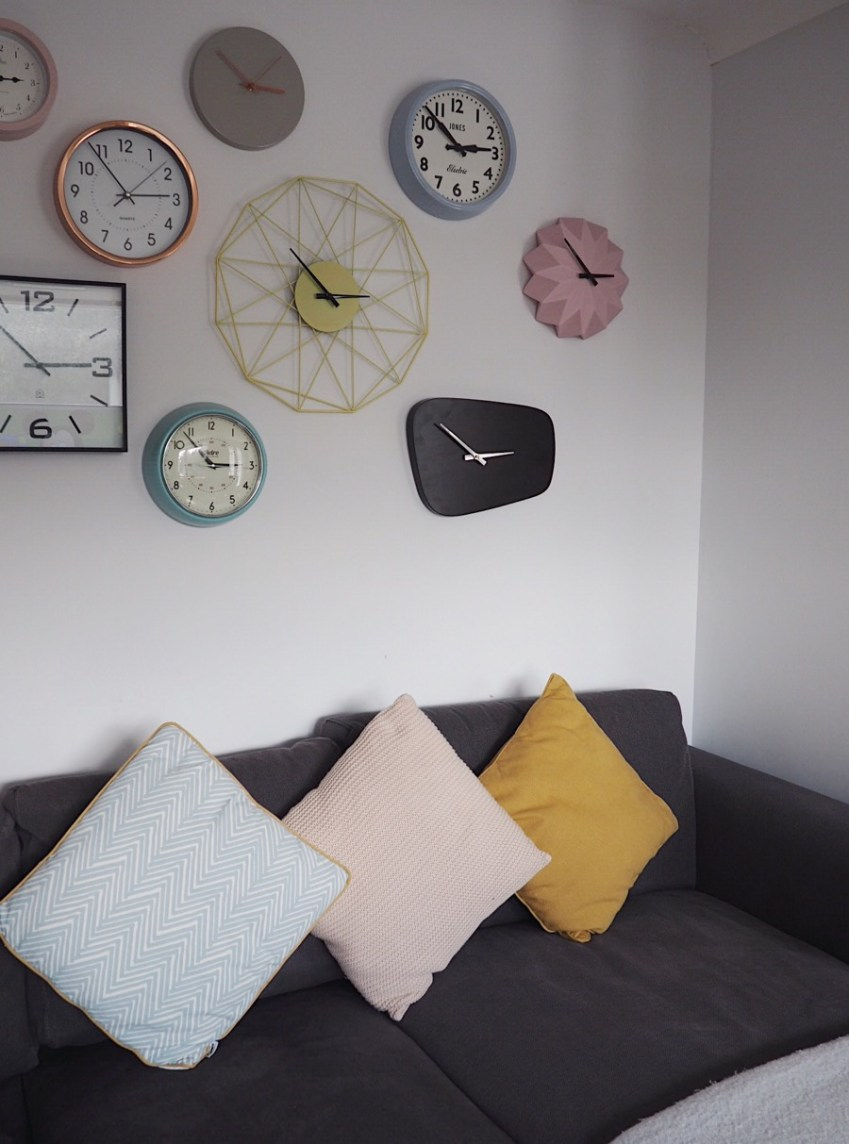 Love a Gallery Wall, well find out how to have a Clock Wall which is ever growing and a work of Art in Scandi Style from Innocent Charms Chats