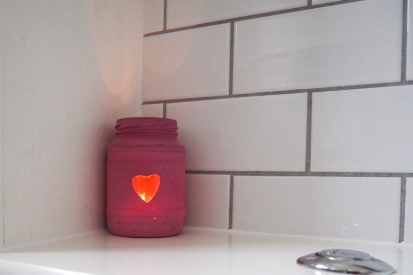 DIY Jam Jar Tealight holder using Pinty Plus Spray Paint at Innocent Charms Chats