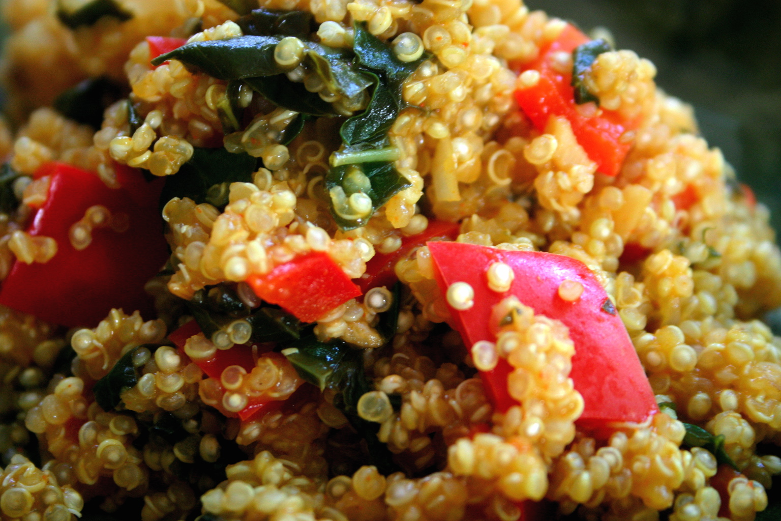 Tex-Mex quinoa with Kale