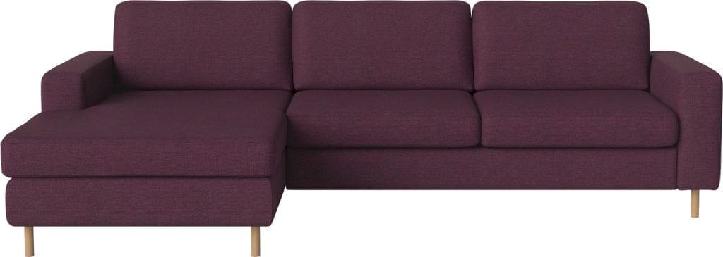 scandinavia 3 seater sofa with chaise longue