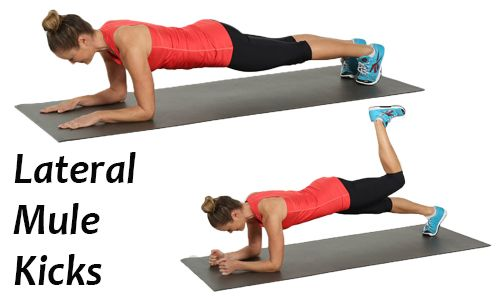 Lateral Mule Kicks Exercise