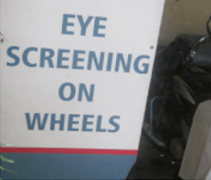 Eye Screening equipment on two wheeler