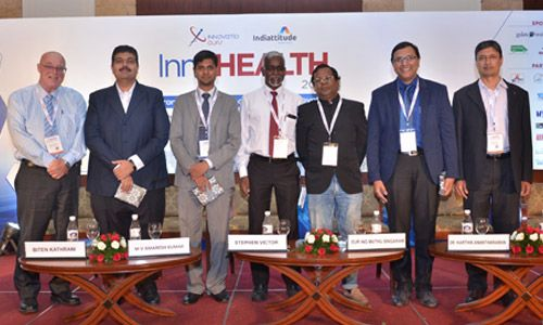 Biten Kathrani, M V Amaresh Kumar, Stephen Victor, Eur Ing Muthu Singaram, Dr. Karthik Anantharaman, Ashim Roy and other are at InnoHEALTH 2017 conference