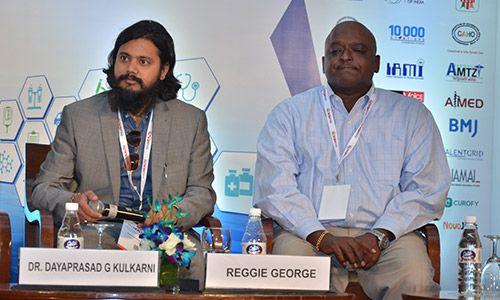 Dr. Dayaprasad G Kulkarni and Reggie George at InnoHEALTH 2017 conference