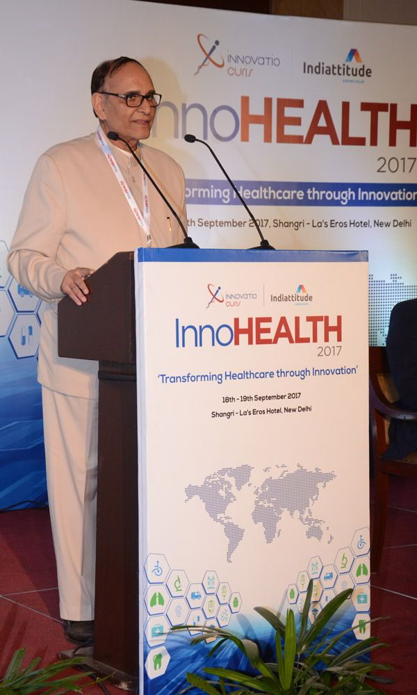 V K Singh innaugrated the InnoHEALTH 2017 conference