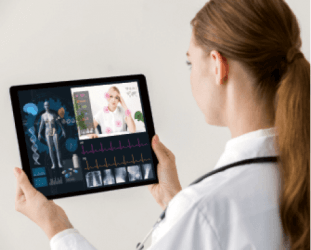 girl with tab medical iot
