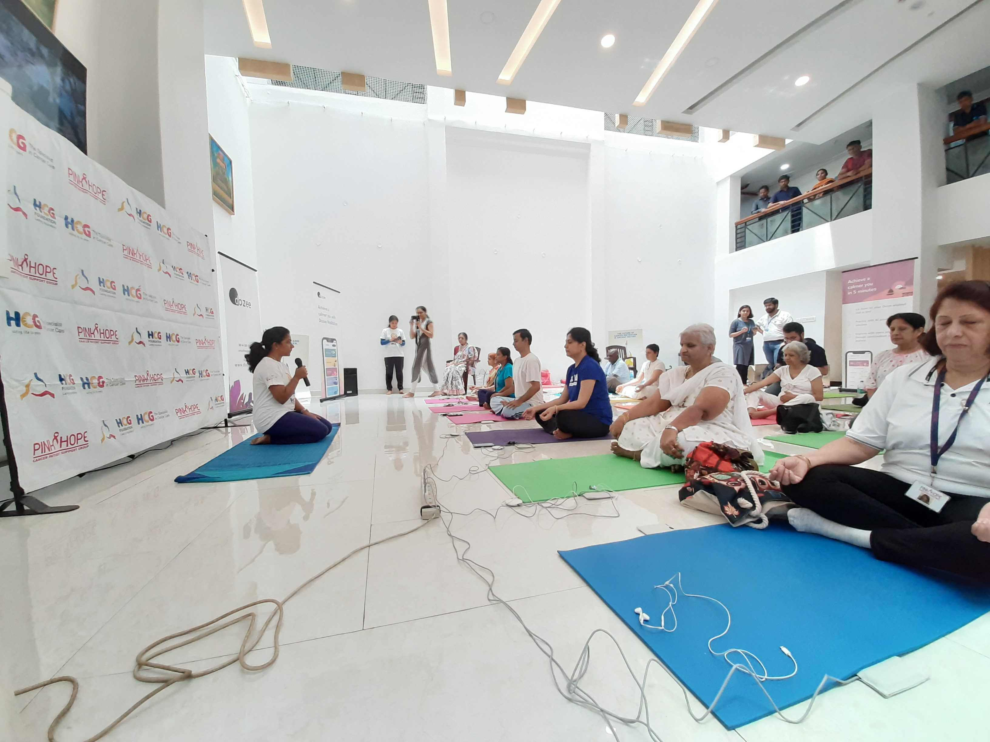 meditation session at HCG with dozee 1