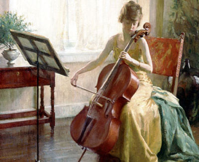 Ladylike cello playing