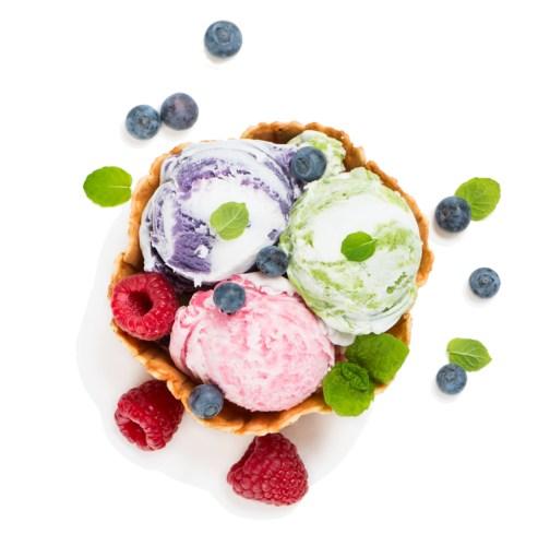 dondurulmuş meyveli dondurma