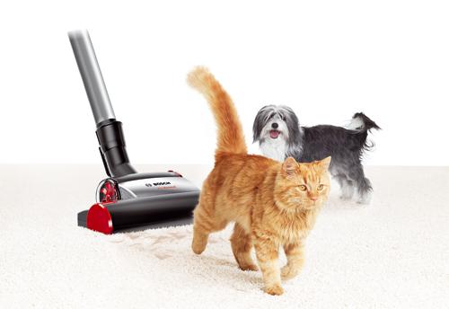 Evcil hayvanlar için özel elektrikli süpürge