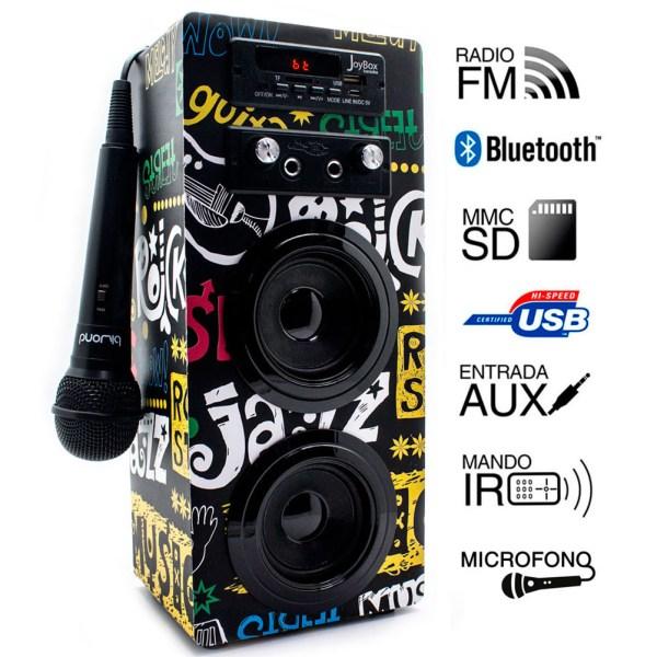 Coluna Joybox com Karaoke