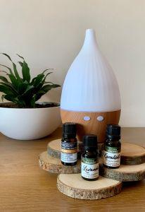 Kit Aromaterapia Humidificador Difusor Torre com óleos essenciais