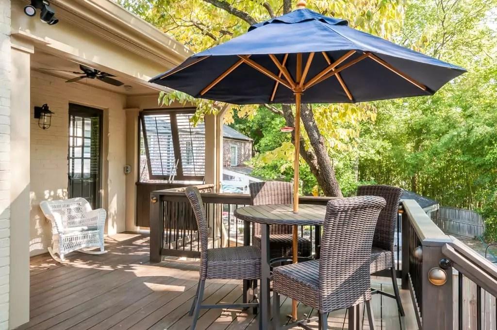 cozy deck and covered porch atlanta