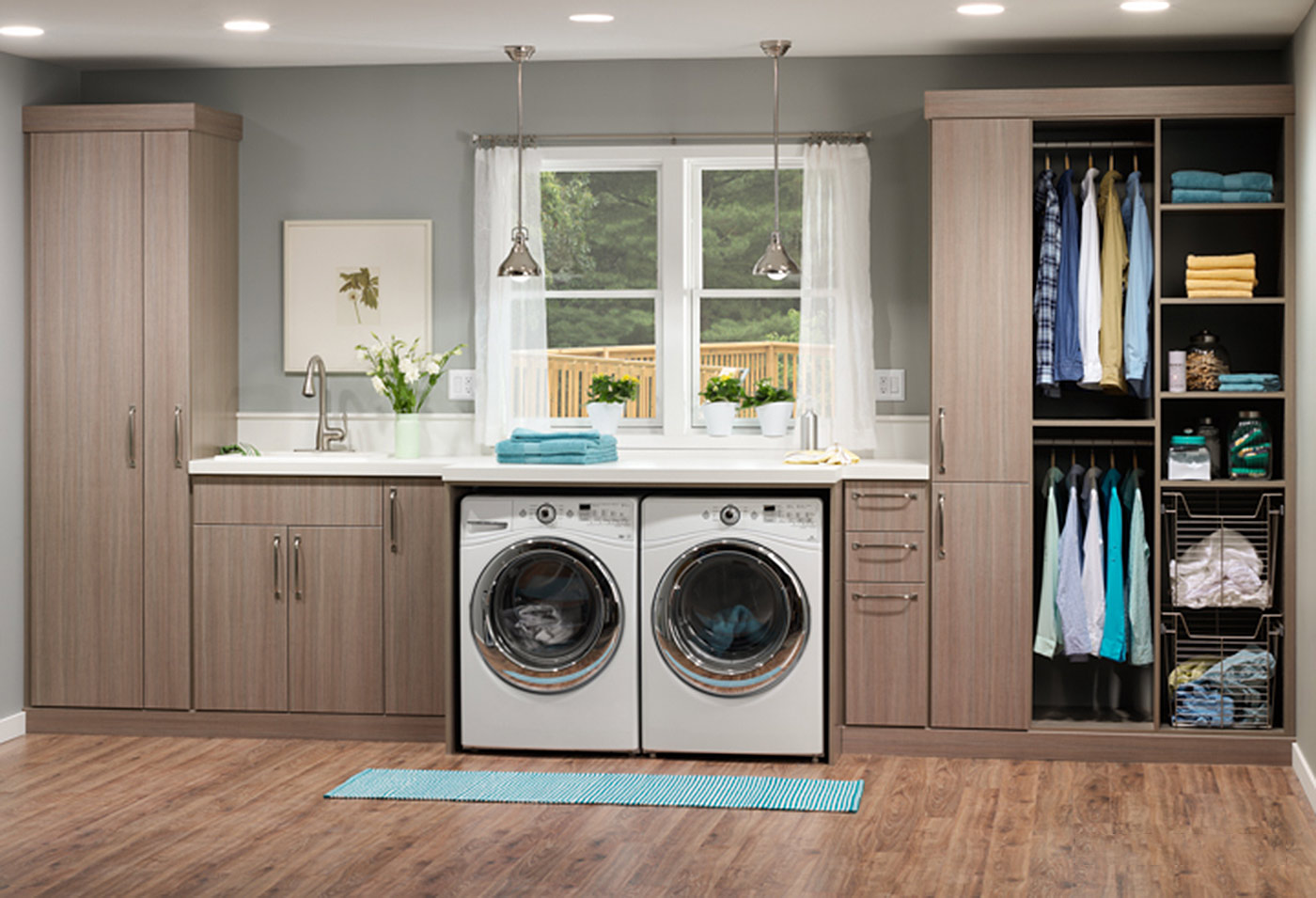 Laundry Room Cabinet Accessories: Innovate Home Org ... on Laundry Cabinets  id=40566