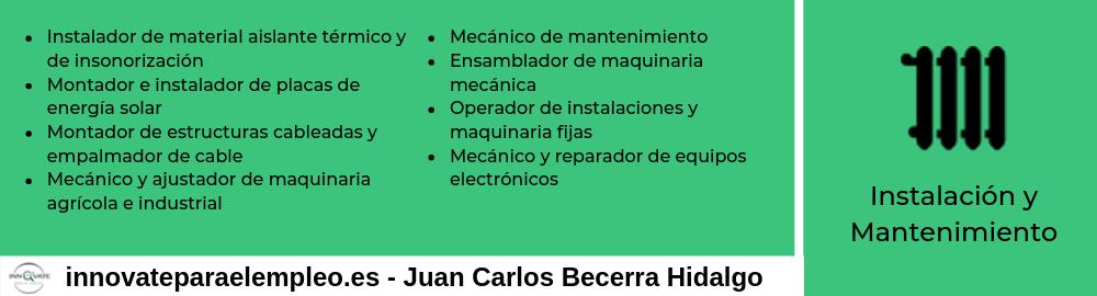 Portales de empleo del sector de la instalación y el mantenimiento