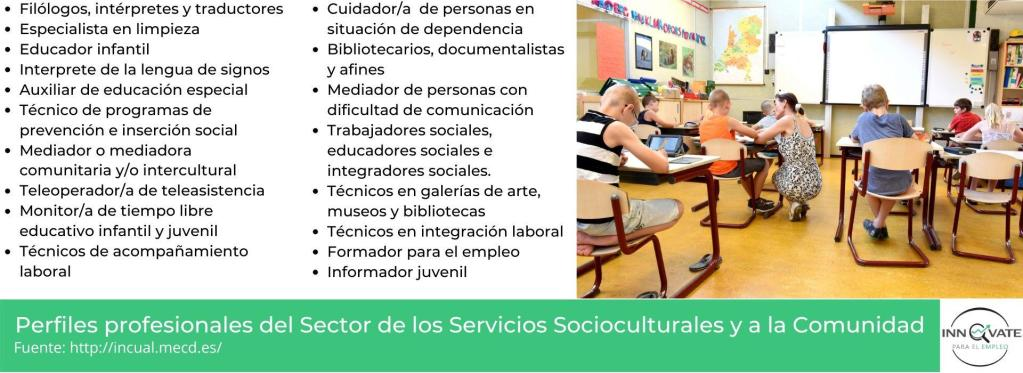 Portales de empleo del sector de los servicios socioculturales y de la comunidad