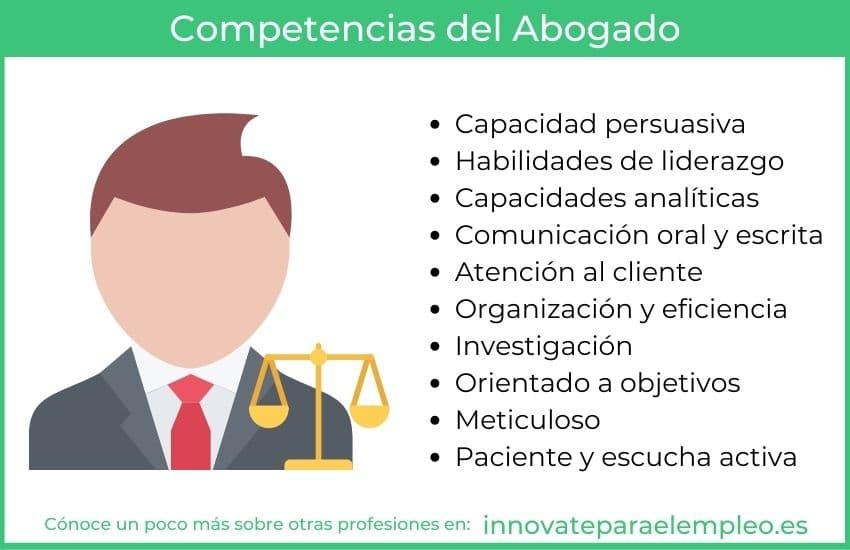 competencias de un abogado