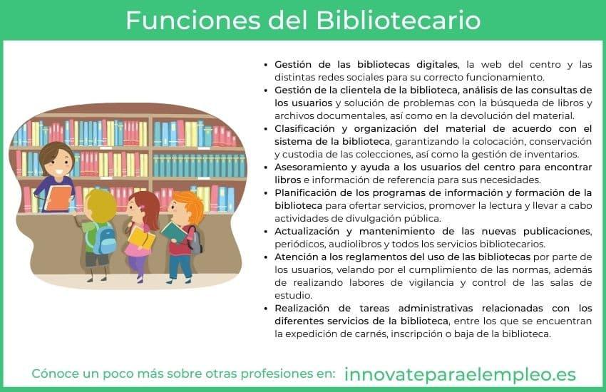 funciones de un bibliotecario