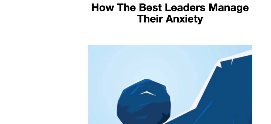 Manage Anxiety