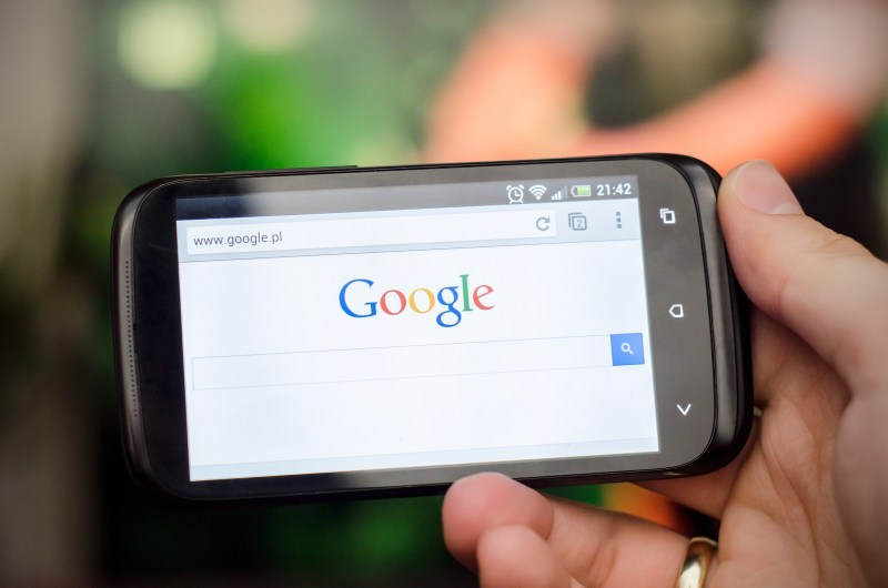 Phone With Google Search Website