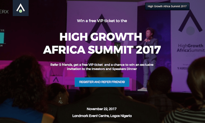Win free vip ticket to high growth africa summit invitation to share this stopboris Choice Image