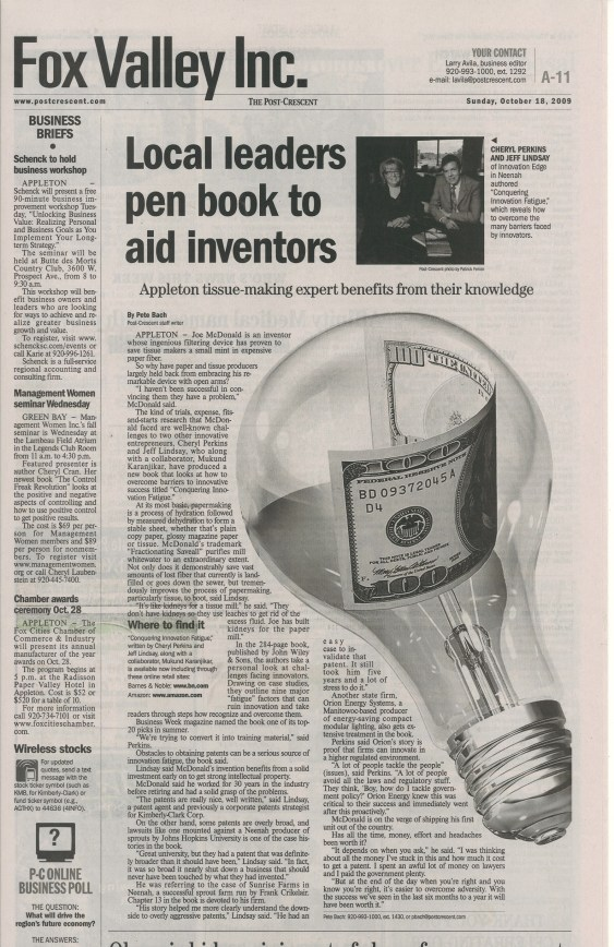 Innovation consultants provide support for inventors