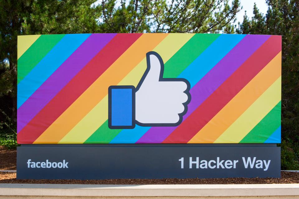 Facebook Employee Sign Hack: Pride 2015 (Image Credit: Facebook)