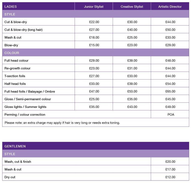 Innovation Ewell main price list