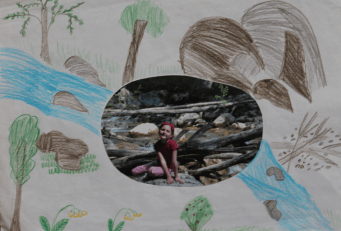 I am fond of hiking and that's why I drew this pictures. The photo is taken by the Black River during my field trip. I go hiking with my dad every summer. I discover a lot of new things while hiking.