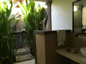 Bathroom with a cool outdoor shower