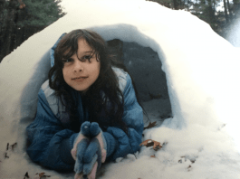 Me in an igloo he helped me build