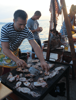 Cooking up the seafood in Zadar