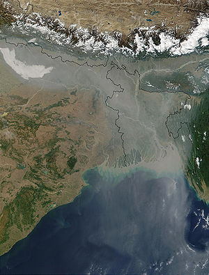 Aerosol pollution over Northern India and Bang...