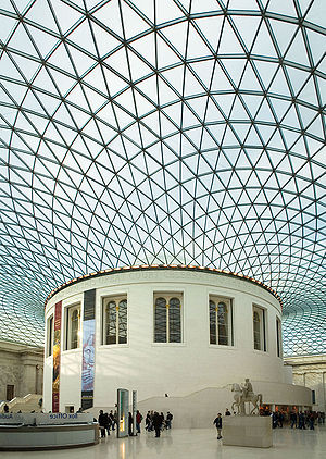 Great Court, with a lattice thin-shell roof by...