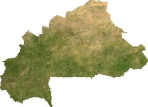 Satellite image of Burkina Faso, generated fro...