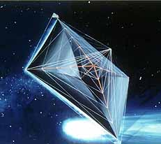 Artist's conception of a solar sail