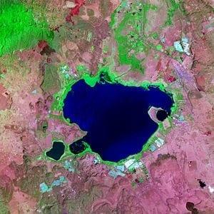 English: Satellite image of Lake Naivasha, Kenya