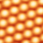 Silicon atoms observed at the surface of a sil...
