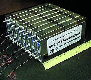 NASA Prototype Lithium-Ion Polymer Battery.