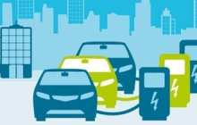 Small and medium-sized companies sharing fleets of electric vehicles