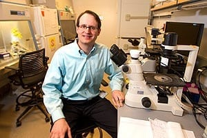 Maximilian Diehn shares senior authorship of a paper describing a technique that is sensitive enough to detect just one molecule of tumor DNA in a sea of 10,000 healthy DNA molecules in the blood.