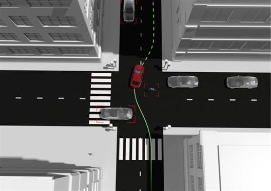 In the Non-hit Car and Truck research project an unparalleled 360° view around the car has been developed. The sensors can perceive any potentially threatening objects and the manoeuvre generator can then identify collision-free escape routes to help avoid accidents.