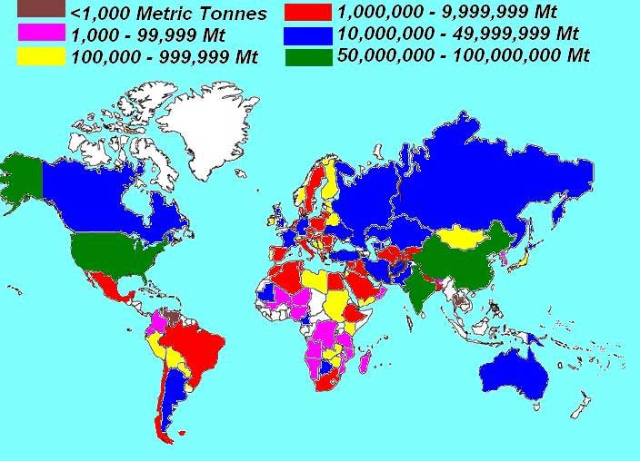 Global Wheat Production Map via archive.gramene.org