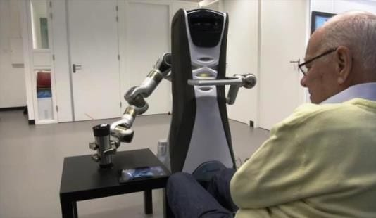 Researchers at the University of Hertfordshire have developed a prototype of a social robot which supports independent living for the elderly, working in partnership with their relatives or carers.